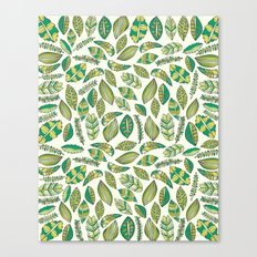 Tropical Jungle Leaves Canvas Print