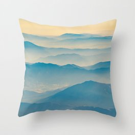Chilean Andes Mountain Aerial View Throw Pillow