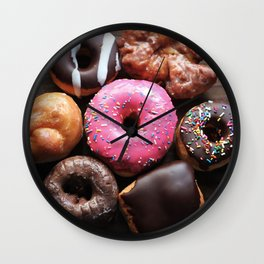 Mmmm Donuts Wall Clock