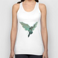 angel Tank Tops featuring ANGEL by Illu-Pic-A.T.Art