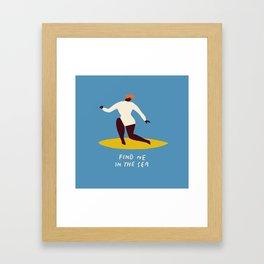 Find me in the sea Framed Art Print