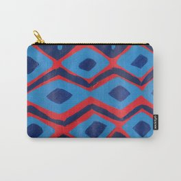Fire and Cobalt Aztec Rug Carry-All Pouch