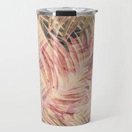 Palm Leaves in pink Travel Mug
