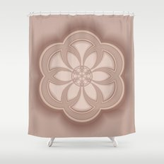 Beige Mandala Shower Curtain