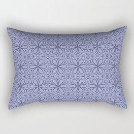 Vintage Victorian, floral pattern Purple Rectangular Pillow