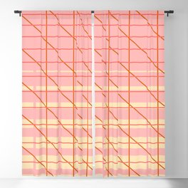 grid check layer_pink, biege Blackout Curtain