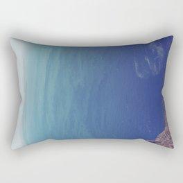 Sea green, ocean blue Rectangular Pillow