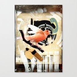 COLLAGE: Tweet Canvas Print