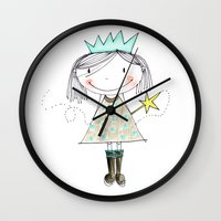 fairy Wall Clocks featuring Fairy by Little Ell