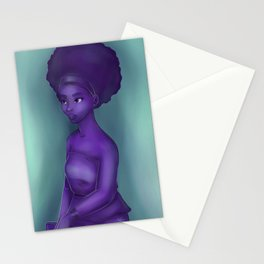 Purple and Teal Stationery Cards