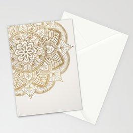 Mandala Beige Creamy Pattern 1 Stationery Cards