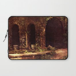 Carl Blechen - Grotto in The Park of The Villa d'Este near Rome - German Romanticism - Oil Painting Laptop Sleeve