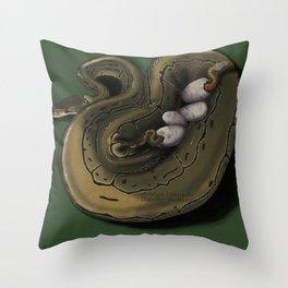 Ball Python Family Throw Pillow