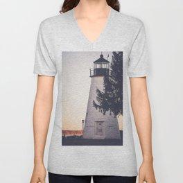 Lighthouse on the Chesapeake Unisex V-Neck