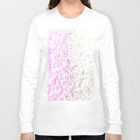 glitter Long Sleeve T-shirts featuring GLITTER by Monika Strigel