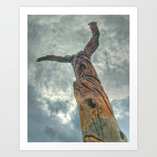 Totum Pole Art Print