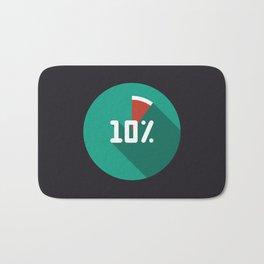 "Illustration ""percentage - 10%"" with long shadow in new modern flat design Bath Mat"