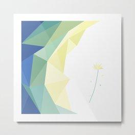 minimal art flower of crystal Metal Print