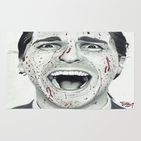 psycho Area & Throw Rugs featuring American Psycho by TYP Portraits