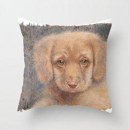 Retriever puppy Throw Pillow