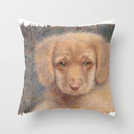 Retriever puppy Throw Pillow