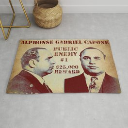 Al Capone FBI Wanted Poster Rug