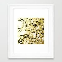 gold foil Framed Art Prints featuring Gold foil by lamottedesign