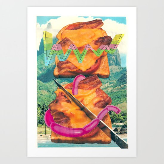 CHILLED CHEESE Art Print