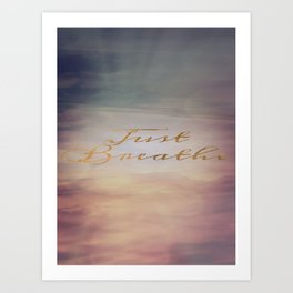 Just Breathe | Water Clouds Sunset Art Print