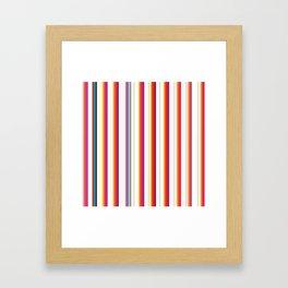 Colorful Stripes Barcode 80s Framed Art Print