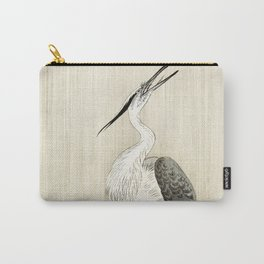 Herons in the rain - Japanese vintage woodblock print Carry-All Pouch