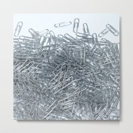 Paperclips texture Metal Print