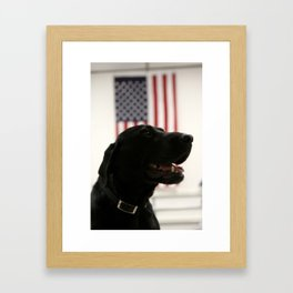 All-American Black Labrador Framed Art Print