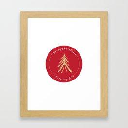 Merry Christmas, Kiss My Ass - Red Framed Art Print