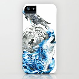 Lonely Wolf iPhone Case