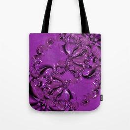 Shiny Purple Daisy Chain Tote Bag