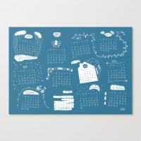 calendar 2015 Canvas Prints featuring Calendar 2015 by Ananá