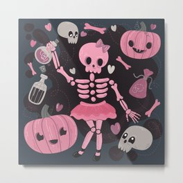 Love Potion Skeleton Dance Metal Print