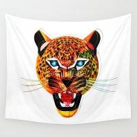 jaguar Wall Tapestries featuring jaguar by Alvaro Tapia Hidalgo