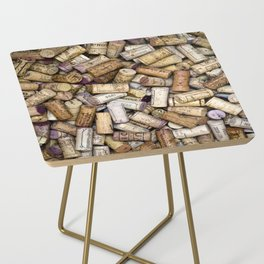 Fine Wine Corks Square Side Table
