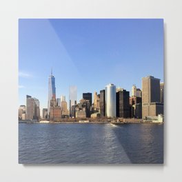Manhattan seen from the East River Metal Print