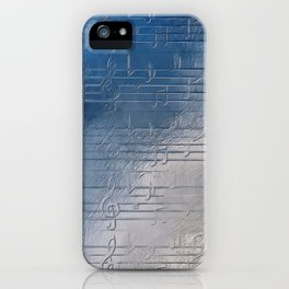 Silver music iPhone Case
