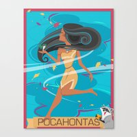 pocahontas Canvas Prints featuring Pocahontas by LindseyCowley
