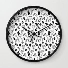 Skull Pattern - Whiteskull Wall Clock