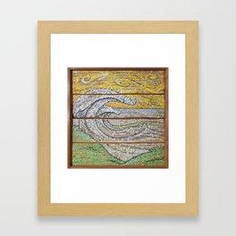 Waves on Grain Framed Art Print