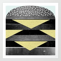 burger Art Prints featuring Burger by Martin Nicolausson