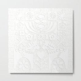 Swedish Folk Art - Subtle Metal Print
