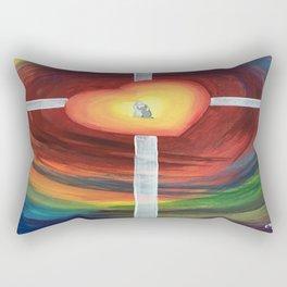Jesus Hug Rectangular Pillow