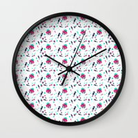crab Wall Clocks featuring Crab by Ewelina Gaska