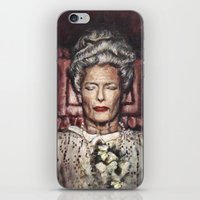 wes anderson iPhone & iPod Skins featuring Tilda Swinton / Grand Budapest Hotel / Wes Anderson / Madame D. by Heather Buchanan